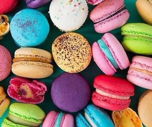 food, macaroons, and sweet image