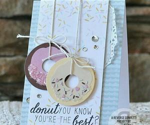diy, card, and donuts image