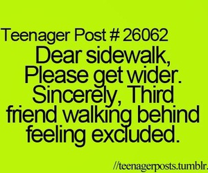 funny, excluded, and teenager post image