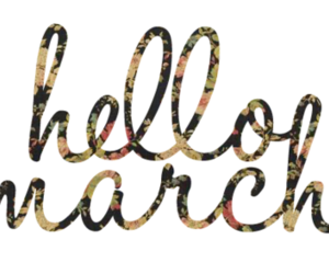 march, hello, and flowers image