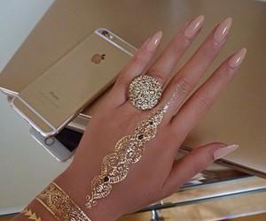 fashion, nail art, and ring image