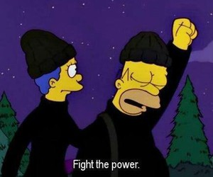 funny, the simpsons, and power image