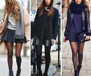 black, chic, and clothes image