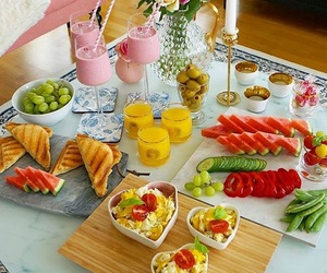 breakfast, FRUiTS, and yummy image