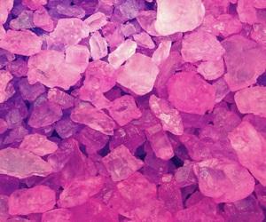 pink, wallpaper, and crystal image
