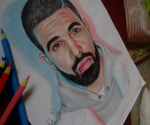 art, Drake, and drawing image