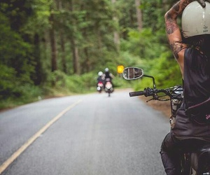 biker, road, and freedom image