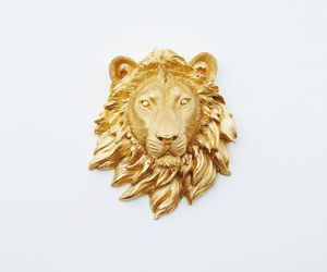 lion, gold, and gryffindor image