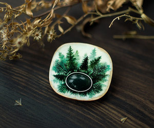 etsy, green forest, and fantasy jewelry image