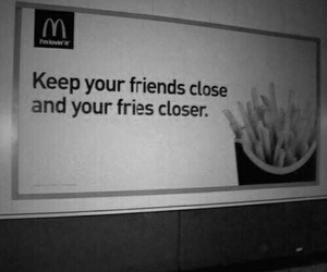 fries, friends, and food image