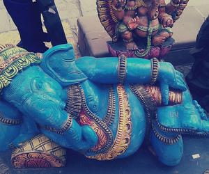 blue, Ganesha, and god image