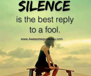 alone, silence, and quote image