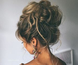 curly, fashion, and updo image