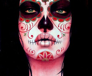 love this and mexican sugar skull image