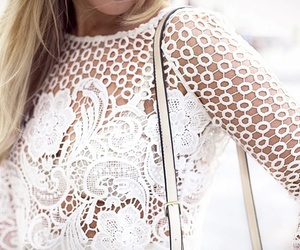 lace, fashion, and style image