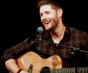 supernatural, dean winchester, and guitar image