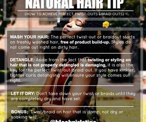 natural hair and tips image