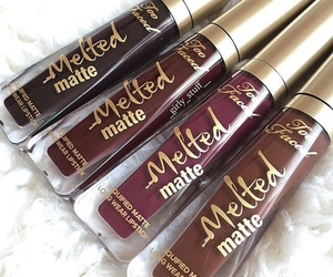 makeup, lipstick, and too faced image