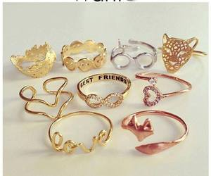rings, best friends, and gold image