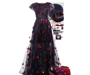 dress, flowers, and formal image