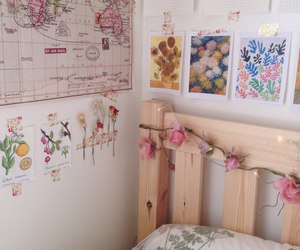 room, flowers, and aesthetic image
