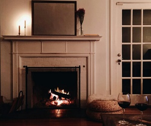 fireplace and romantic image