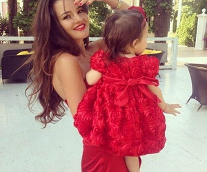red, baby, and dress image
