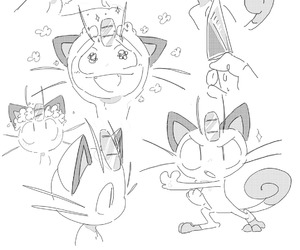 persian and meowth image