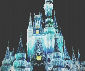 disney, castle, and light image