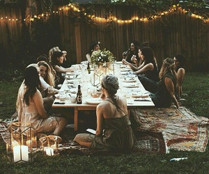 friends, light, and party image
