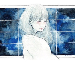 art, beauty, and watercolor image
