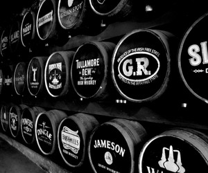 b&w, ireland, and whiskey image
