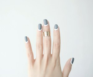 nails, ring, and grey image