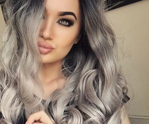 hair, girl, and makeup image