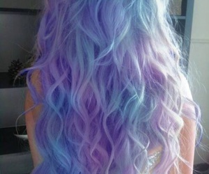 hair, purple, and blue image