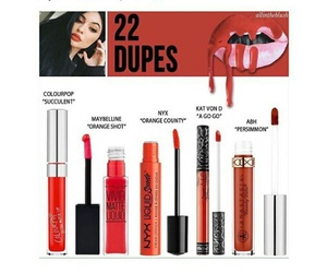 makeup, kylie jenner, and dupes image