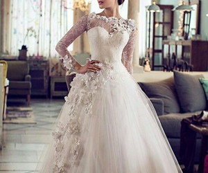 bride, dresses, and wedding dress image