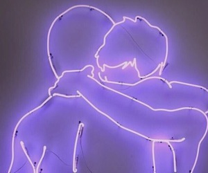 purple, neon, and boy image