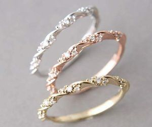 rings, accessories, and girl image