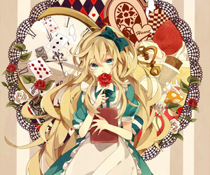 anime, alice in wonderland, and anime girl image