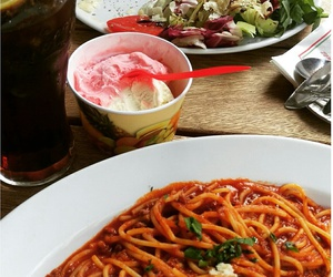 dinner, spaghetti, and yummy image