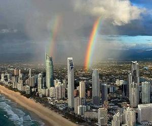 australia and rainbow image