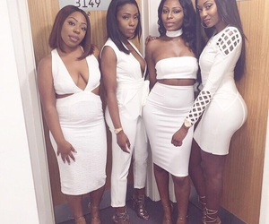 girls night, light skin girls, and clothes shoes dresses image