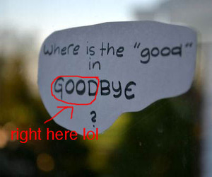 funny, lol, and goodbye image