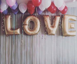balloons, love, and party image