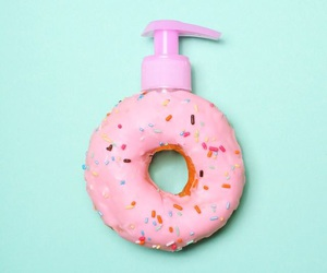 donuts, pink, and minimalist image