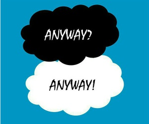 books, the fault in our stars, and anyway+ image