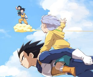 goku, vegeta, and trunks image