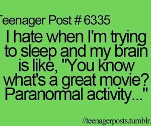 sleep, paranormal activity, and funny image
