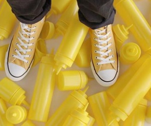 converse, yellow, and tumblr image